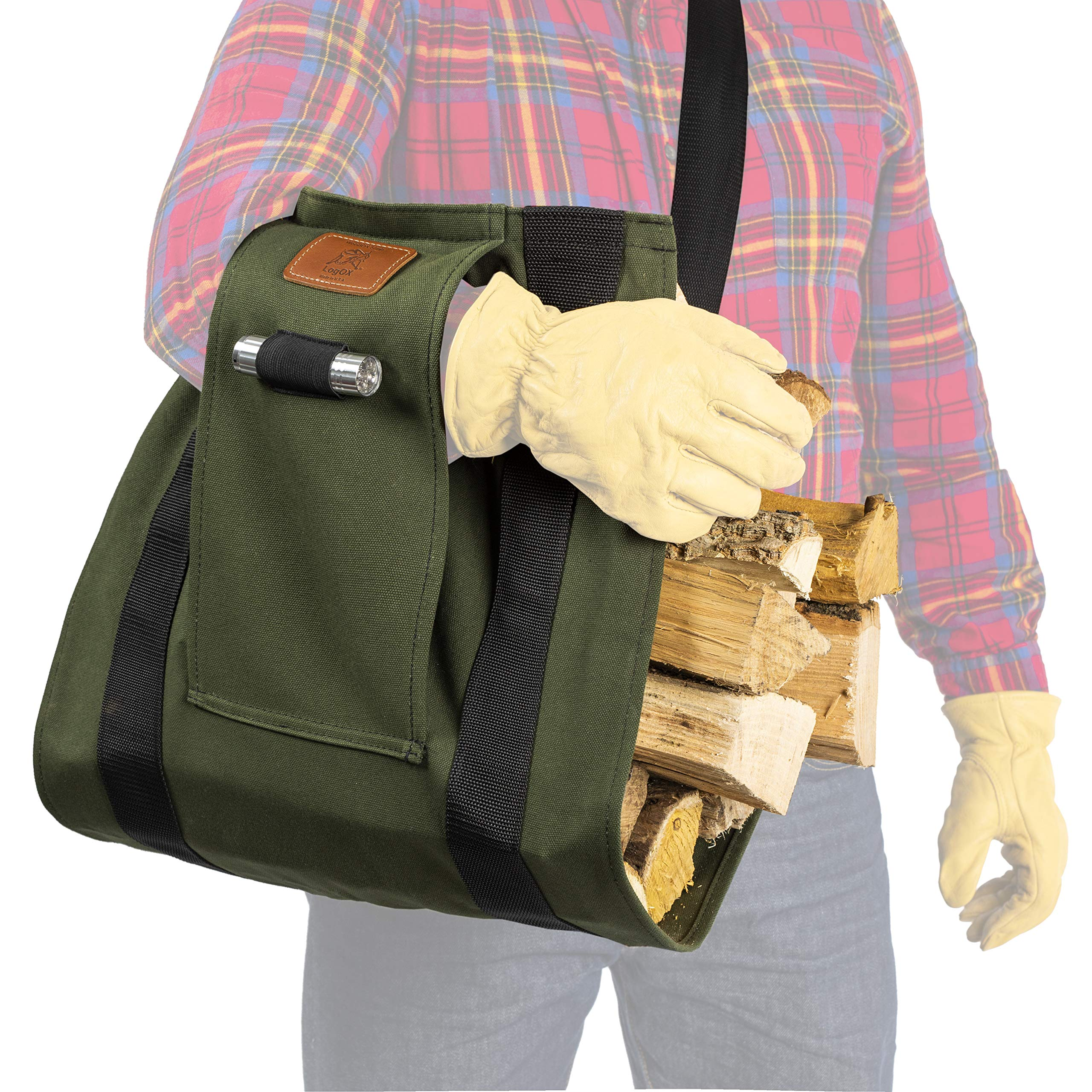 LogOX WoodOX Sling- The World's Most Ergonomic Firewood, Kindling, and Log Carrier - Designed in Vermont and Made in The USA (Patent Pending) by LogOX