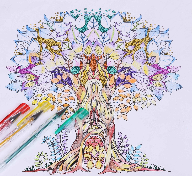 Amazon.com: Lineon 100 Pack Gel Pens Set, 50 Colors Gel Pens with ...