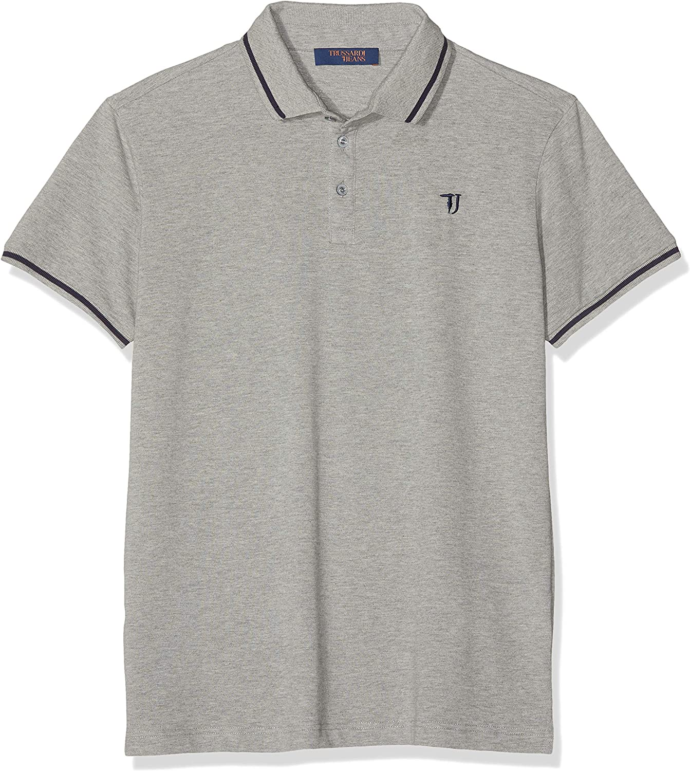 Trussardi Jeans Short Sleeves Polo Shirt Pure Hombre