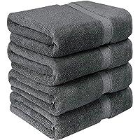 Utopia Towels - Lot de 4 Serviettes de Bain en 100% Coton - 69 x 137 cm, 600 GSM