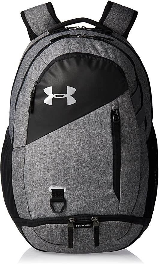 Under Armour Mens Hustle 4.0 Backpack Black Sports Outdoors Gym Breathable