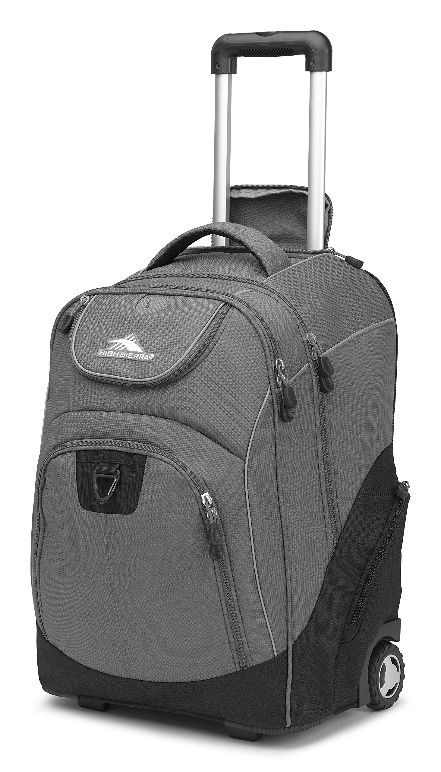 High Sierra Powerglide Wheeled Laptop Backpack, Slate/Black