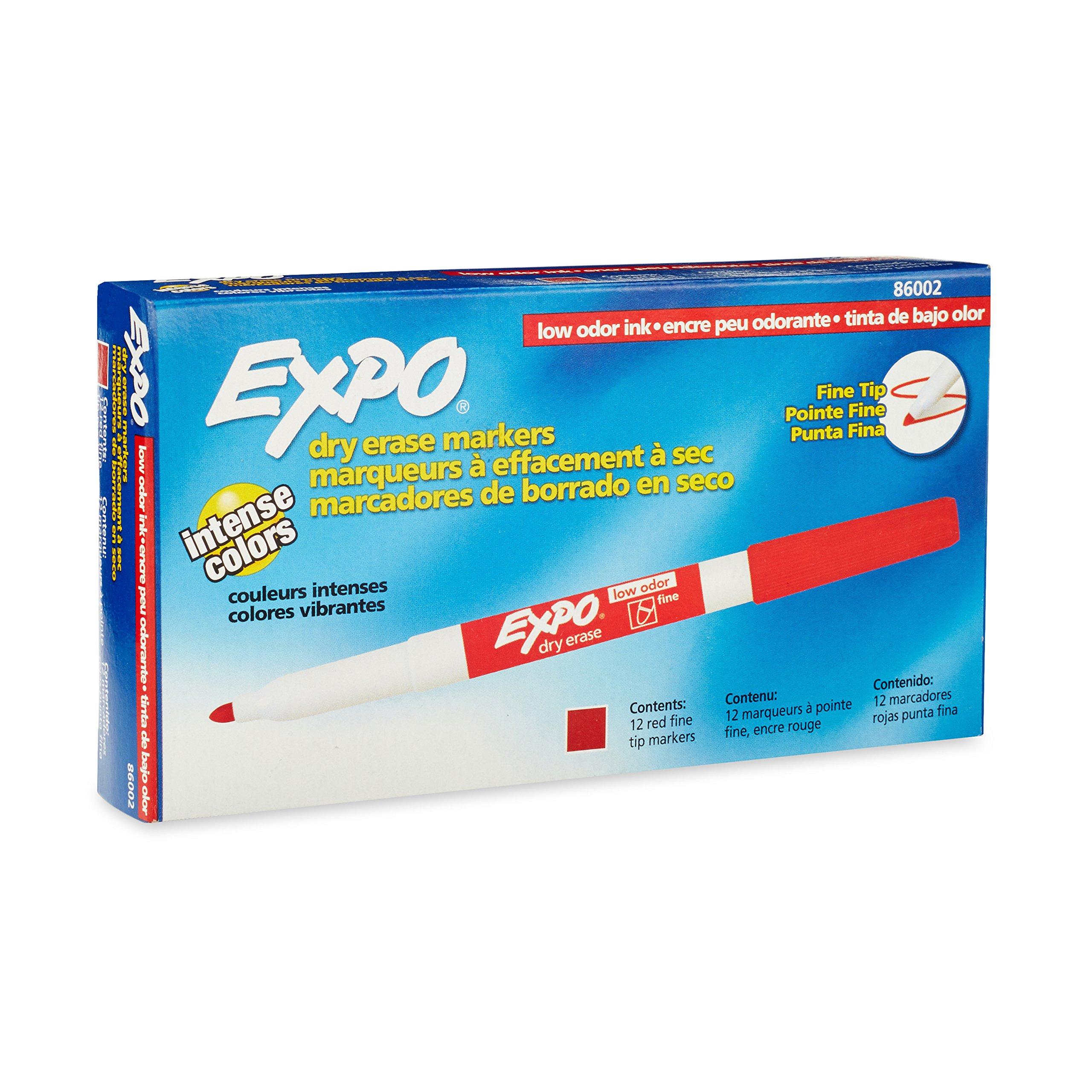 Amazon.com: Expo Low Odor Dry Erase Markers, Fine Tip