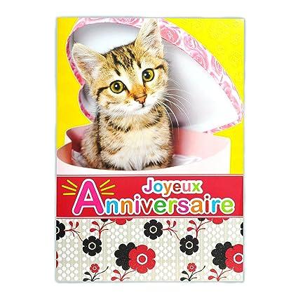 afie mx-3010 gran tarjeta maxi A4 cumpleaños feliz - gato ...