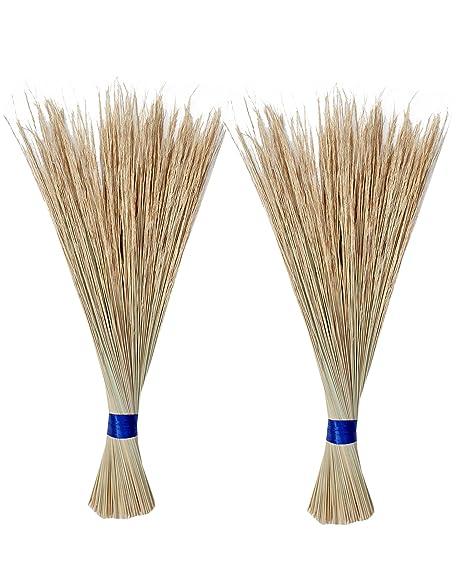 Anasagar Eco Friendly Soft Grass Floor Broom Stick For Cleaning Coconut Grass Broom Sticks (Jhadu / Mop) Combo(Pack of 2)