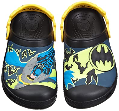 Batman Custom Clog Kids Boys Shoes Designer Footwear - Black