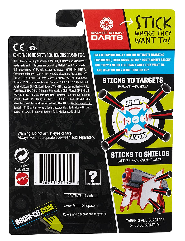 Extra Darts Bleu BOOMco Recharge 16 Fl/échettes Smart Stick BBR43