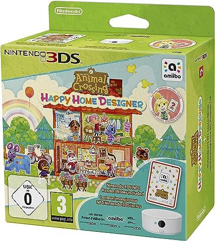 Animal Crossing: Happy Home Designer + 1 Tarjeta amiibo + Lector/Escritor NFC: Amazon.es: Videojuegos