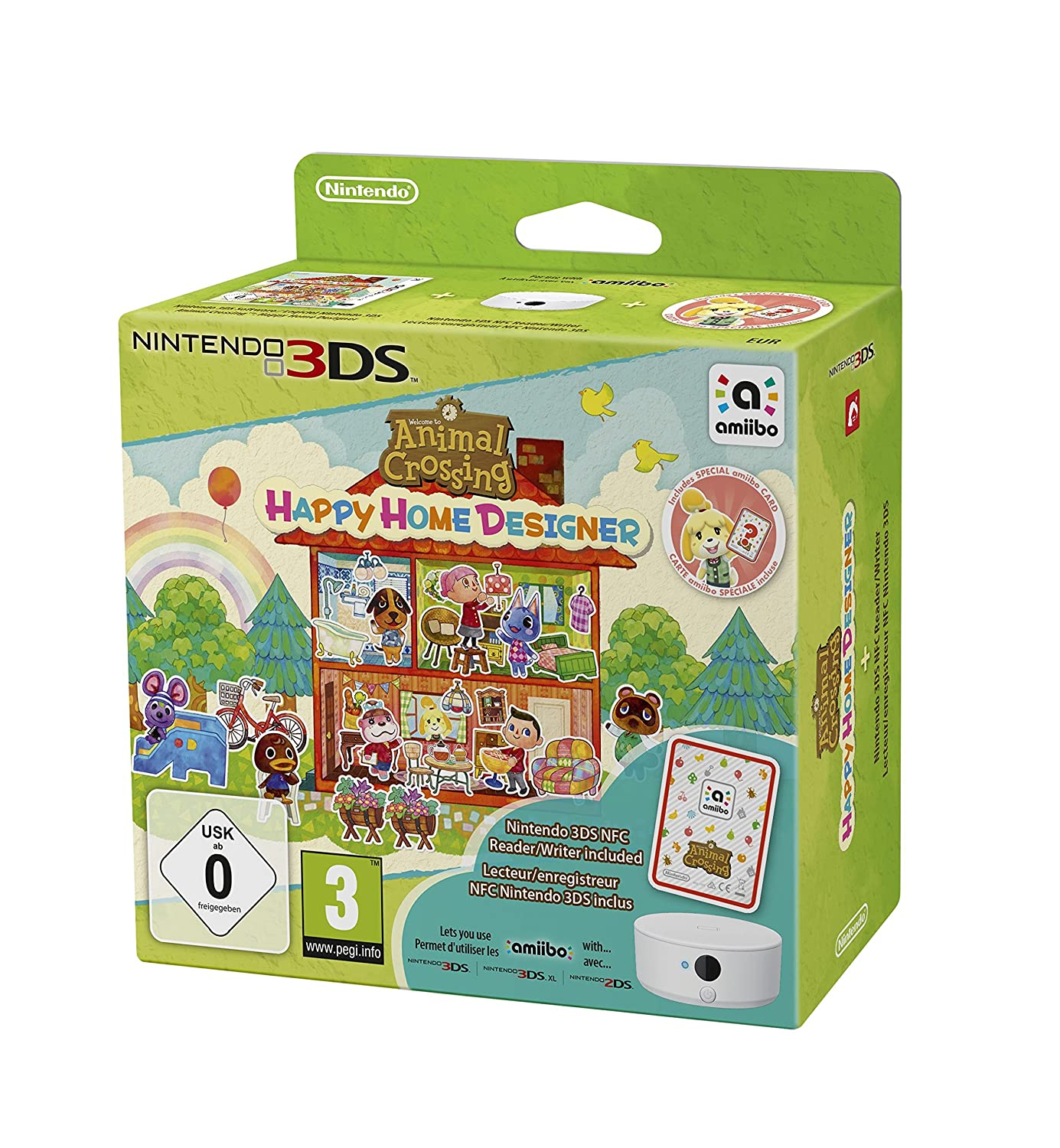 Animal Crossing: Happy Home Designer + Amiibo Card + NFC Reader/Writer  (Nintendo 3DS): Amazon.co.uk: PC U0026 Video Games