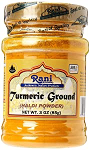 Rani Turmeric (Haldi) Root Powder Spice, (High Curcumin Content) 3oz (85g) ~ All Natural | 100% Pure, Salt Free | Vegan | Gluten Friendly Ingredients | NON-GMO | Indian Origin