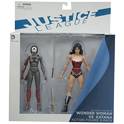 DC Collectibles DC Comics The New 52 Wonder Woman vs. Katana Action Figure, 2-Pack: Toys & Games