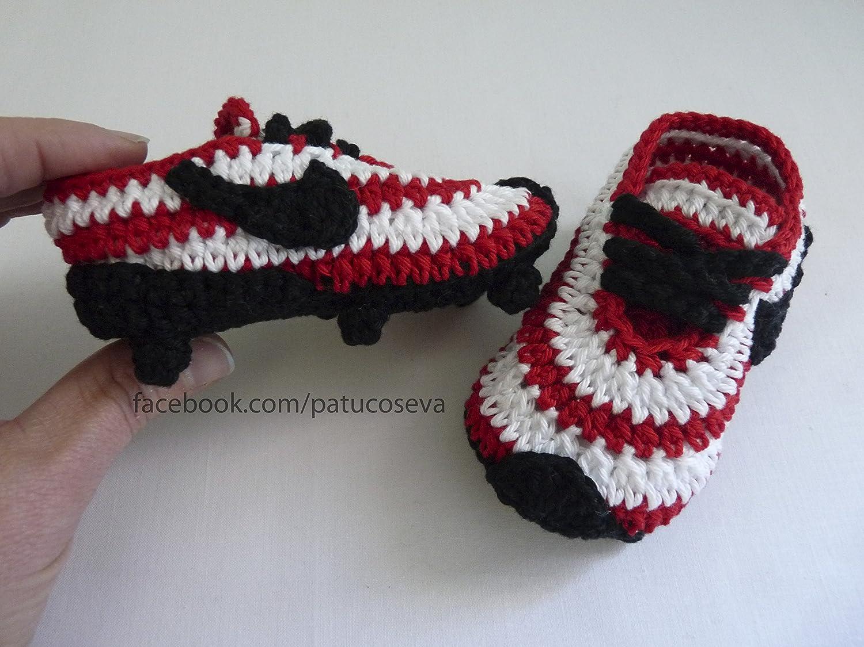 Patucos Athletic de Bilbao botas fútbol tacos bebé: Amazon ...