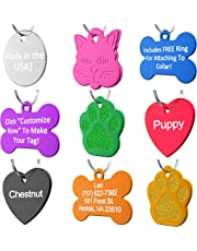 Dr. Fremont's Pet ID Tag Dog and Cat Personalized   Many Shapes and Colors to Choose From   Made in USA, Strong Anodized Aluminum