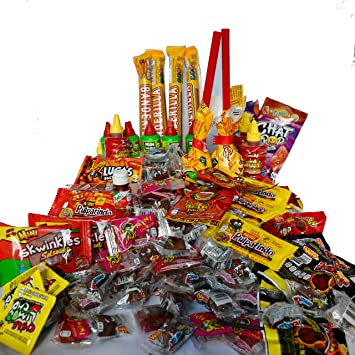 Amazon Com Deluxe Spicy Mexican Candy Mix 4 Pounds Best Brands