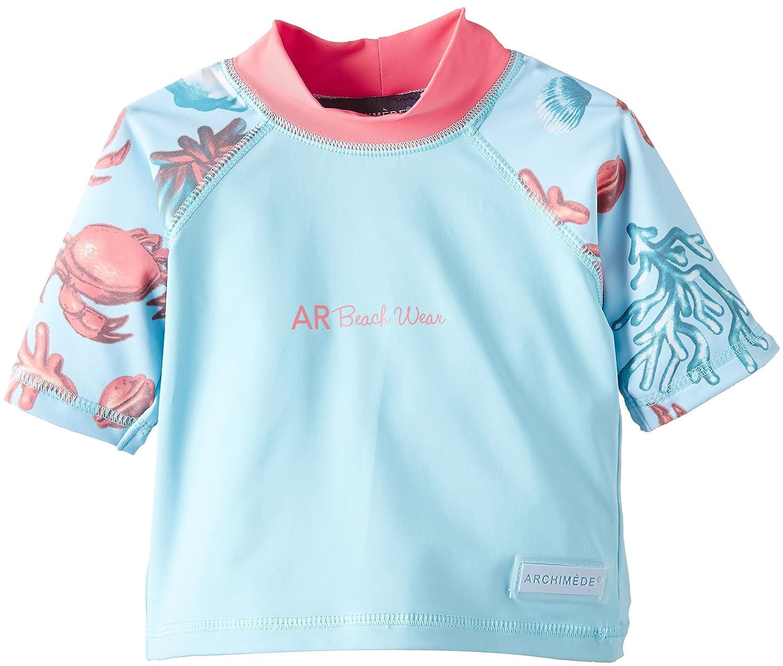 Archimede Jungen T-Shirt und Ball Set A517011 Top UV Protection Crabe Blau (Bleu Ciel) 9-12 Monate