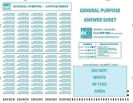 amazon com pdp 4521 50 pkg 4521 compatible testing forms 50
