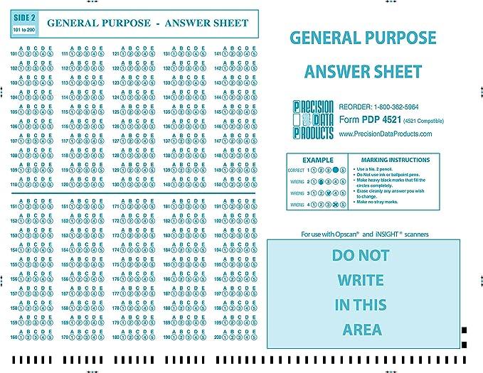 Amazon Pdp 4521 100pkg 4521 Compatible Test Sheet Precision