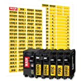 Linelax Circuit Breaker Box Labels – 129 Weatherproof Fuse Box Stickers