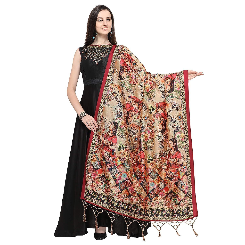 J B Fashion Women's silk (Dupatta-03_Multicoloured_Free Size)