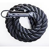 GYM Climbing Rope Black Poly Dac/ Free Shipping
