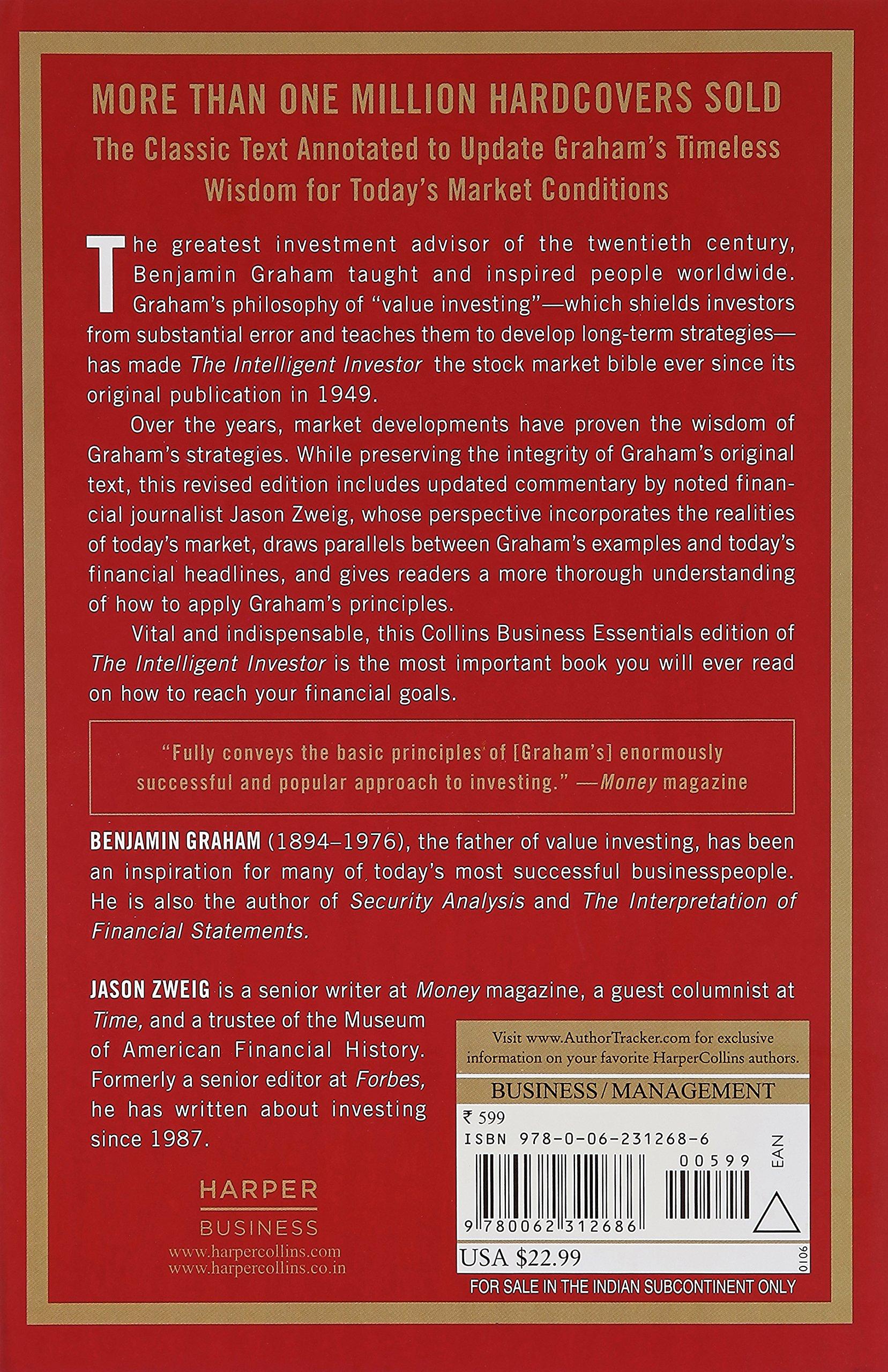 Book Summary The Intelligent Investor by Benjamin Graham