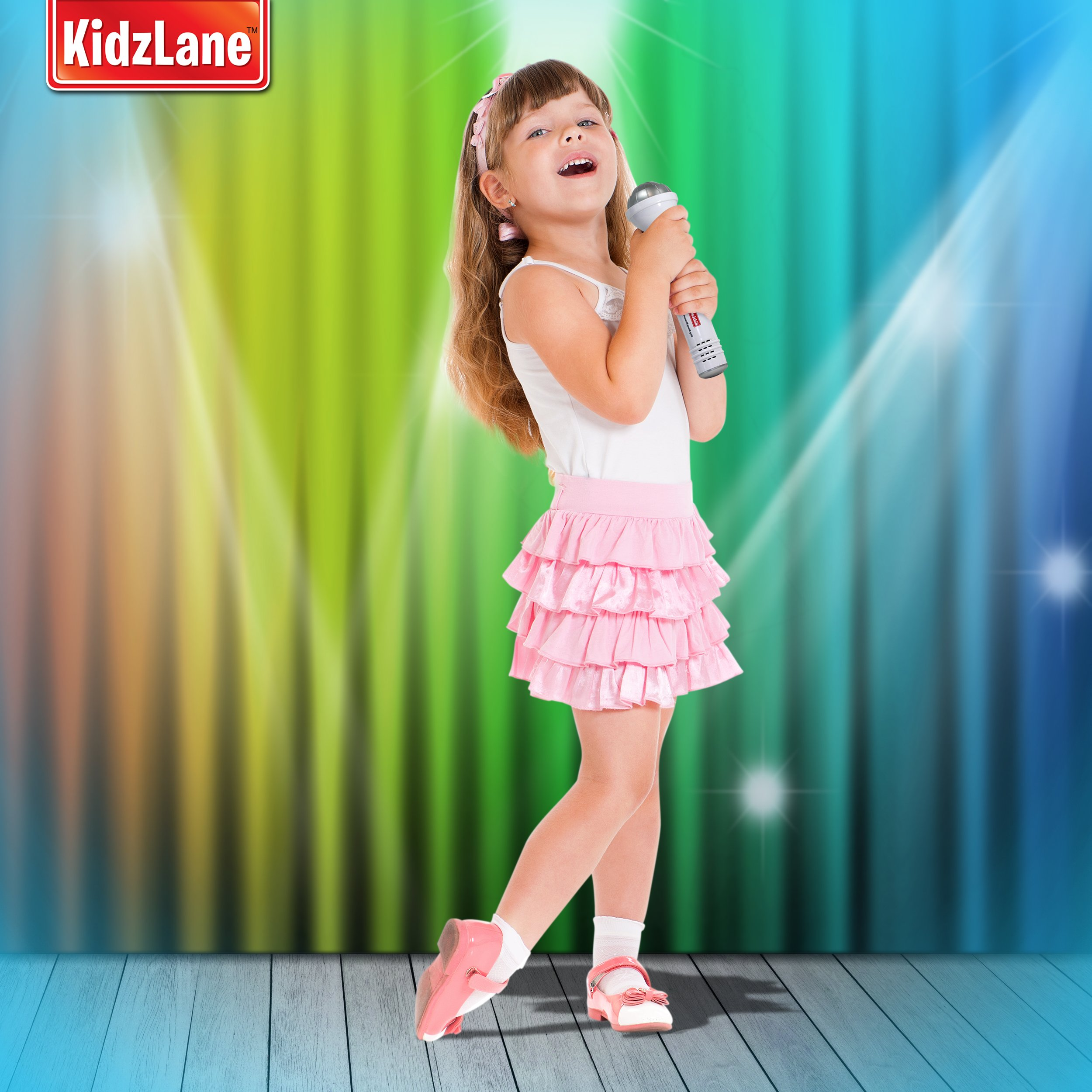 Kidzlane Microphone for Kids - Karaoke Machine Sing-A-Long Music Player with Built in Speakers, Preprogrammed Music and Wireless Connnectivity by Kidzlane (Image #2)