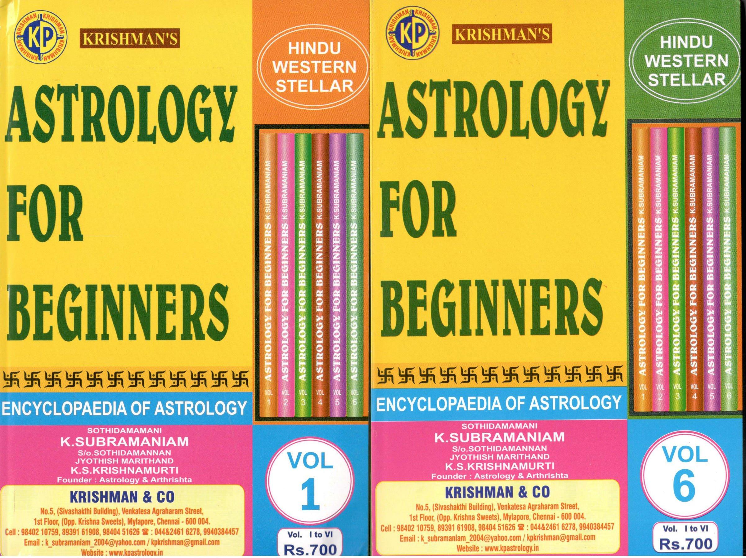 Buy Astrology for Beginners (KP - 6 Volume Set) Book Online at Low