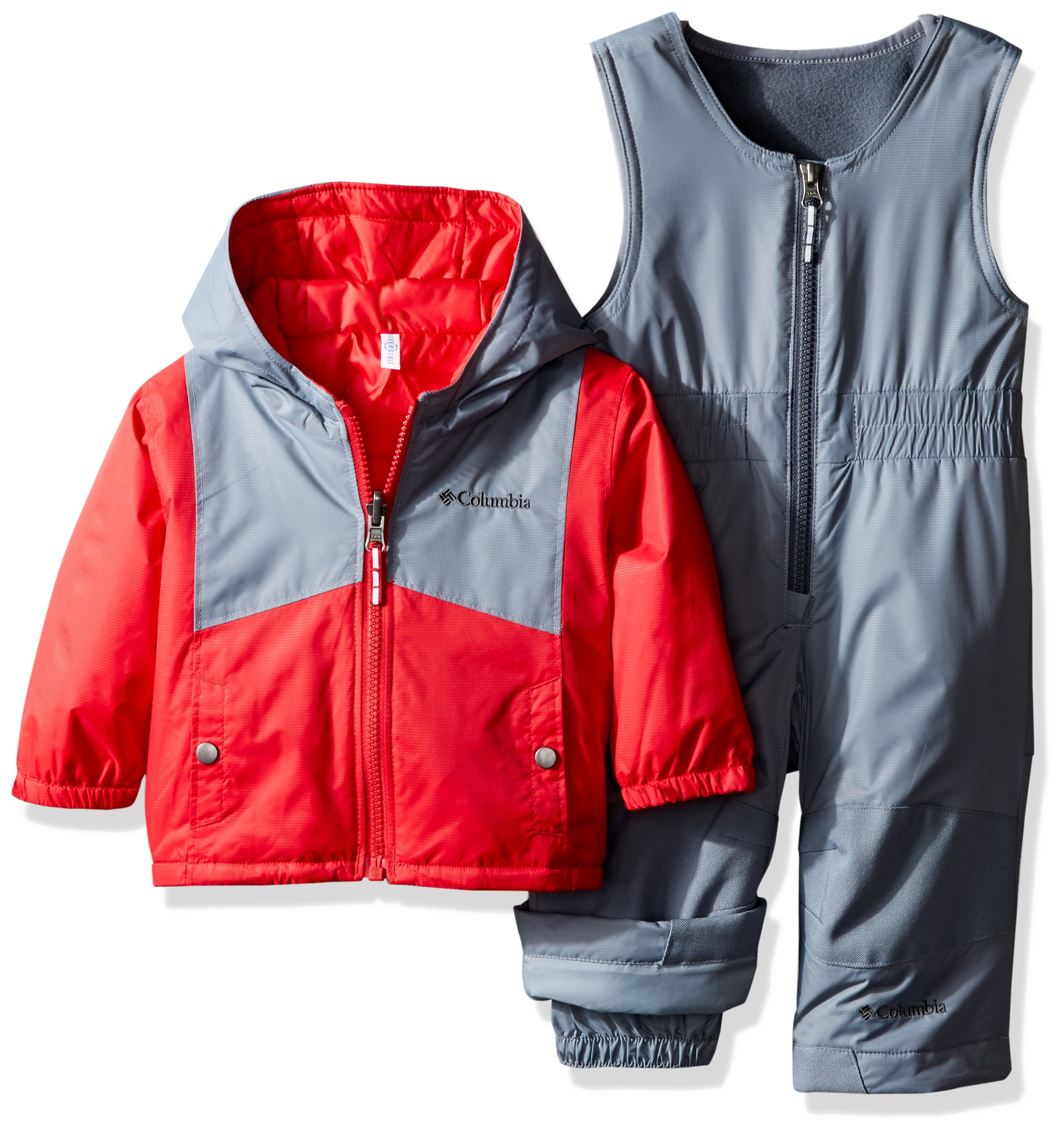 Columbia Baby Double Flake Set, Mountain Red, 6-12 Months by Columbia