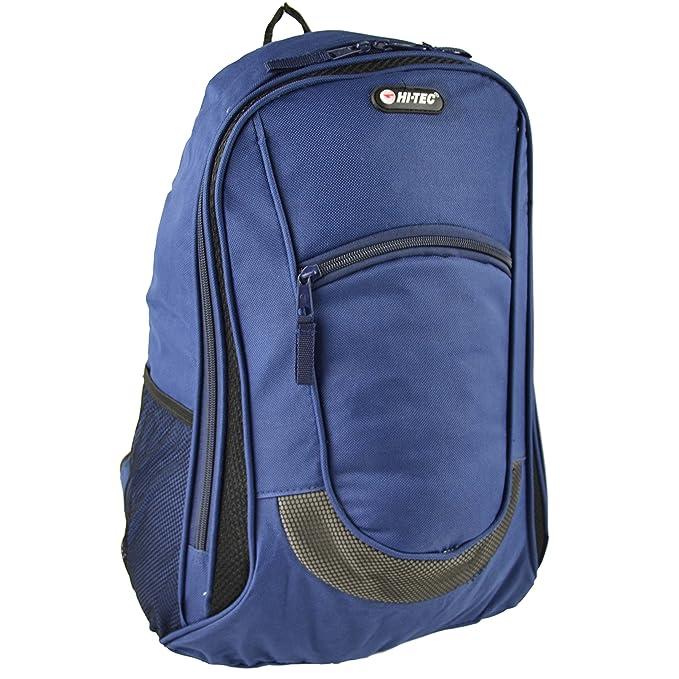 Hi Tec - Mochila para Hombre para Colegio Universidad Trabajo Viajes - Azul Marino, NA: Amazon.es: Ropa y accesorios
