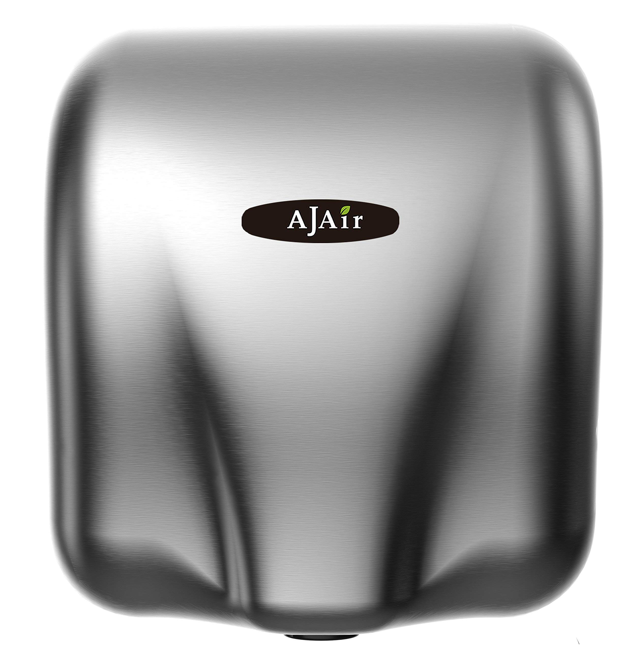 AjAir® Heavy Duty Commercial 1800 Watts High Speed Automatic Hot Hand Dryer - Stainless Steel