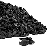 Playsafer Rubber Mulch Nuggets Protective Flooring for Playgrounds, Swing-Sets, Play Areas, and Landscaping (40 LBS - 1.55 CU. FT, Black)