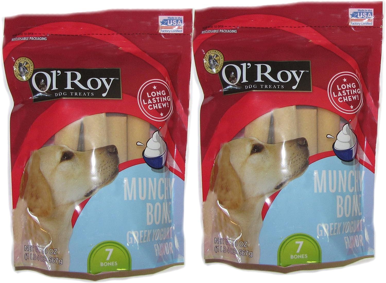Ol' Roy Munchy bone Greek Yogurt 20 oz 2 pack