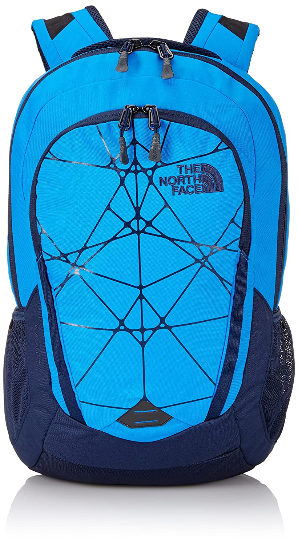 The North Face Vault Backpack Asphalt Grey Dark Heather-Zinnia Orange OS T93KV9J74.  OS