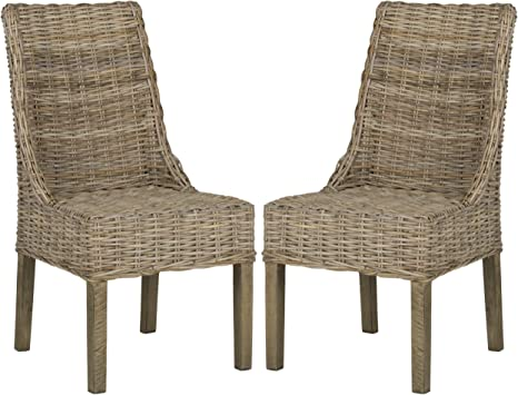 Amazon Com Safavieh Home Collection Suncoast Brown Dining Chair Furniture Decor