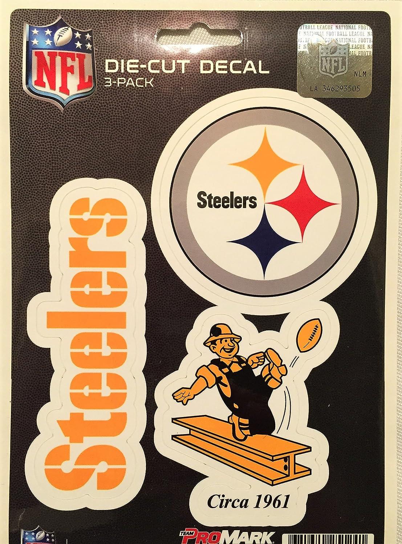 NFL Pittsburgh Steelers Team Decal, 3-Pack