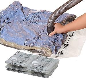 Simple Houseware 6 Jumbo Vacuum Storage Bags to Space Saver for Bedding