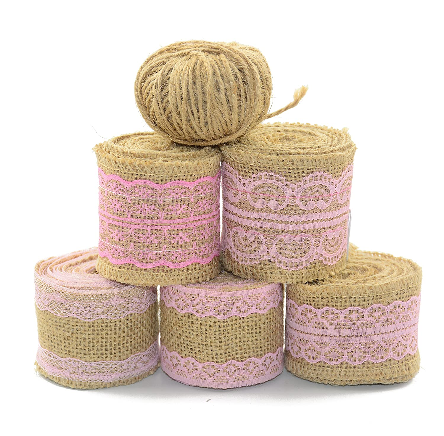 Amazon.com: Aokbean 11 Yards/394 Inch Rustic Wedding Favor Jute ...