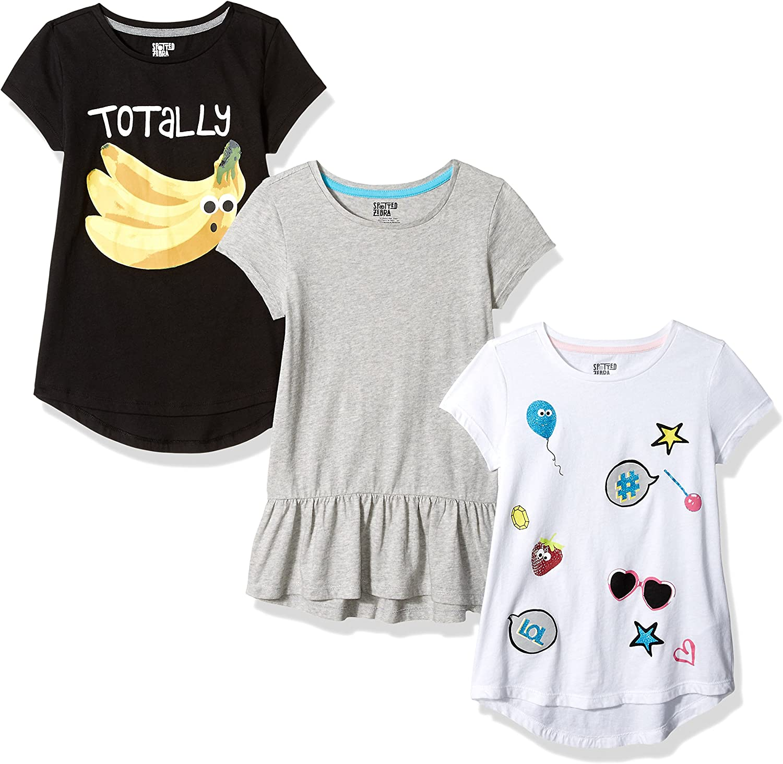Amazon Brand - Spotted Zebra Girls Short-Sleeve Tunic T-Shirts