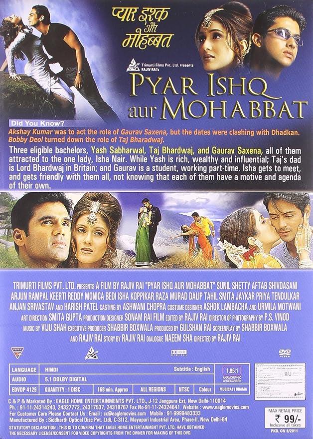 Amazon in: Buy Pyar Ishq Aur Mohabbat DVD, Blu-ray Online at Best