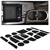 Custom Fit Cup Holder and Door Liner Accessories for 2018 + Subaru Impreza and Crosstrek 14-pc Set (Solid Black)