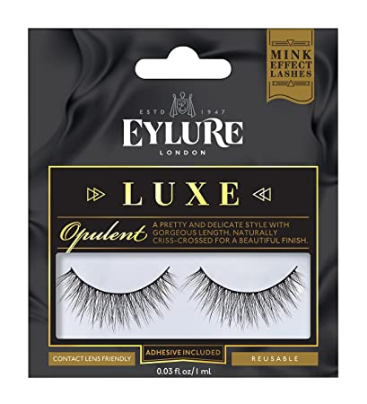 241b902cc2c Amazon.com : Eylure Faux Mink Eye Lashes, Opulent : Beauty