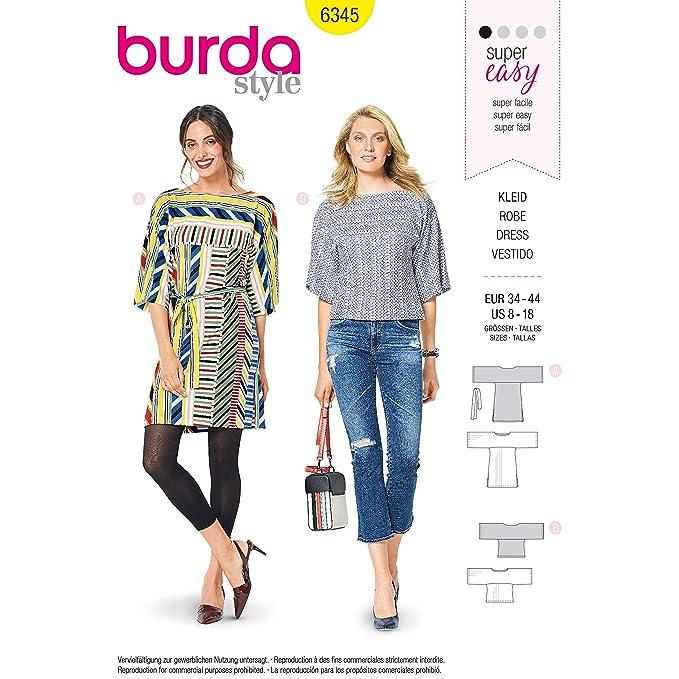 Burda Style 6345 - Patrones de costura para ropa deportiva de ...