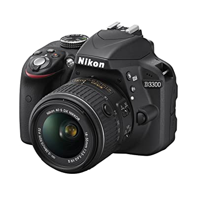 Nikon D3300 24.2 MP CMOS Digital SLR with Auto Focus-S DX NIKKOR 18-55mm f/3.5-5.6G VR II Zoom Lens