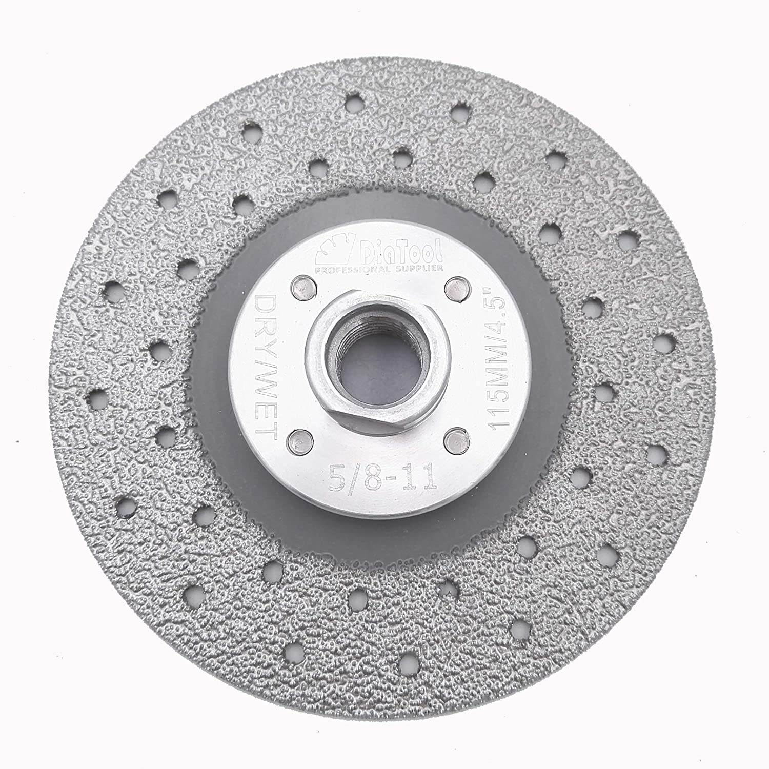 4 inch DIATOOL Double Sided Vacuum Brazed Diamond Cutting /& Grinding Disc With 5//8-11 Flange Premium Quality for Fast Cutting Shaping Grinding And Smoothing