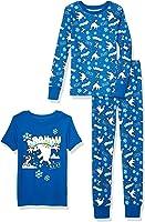 Spotted Zebra by Disney Frozen - Boys' Toddler & Kids 3-Piece Snug-fit Cotton Pajama Set