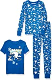 Amazon Brand - Spotted Zebra by Disney Frozen - Boys' Toddler & Kids 3-Piece Snug-fit Cotton Pajama Set
