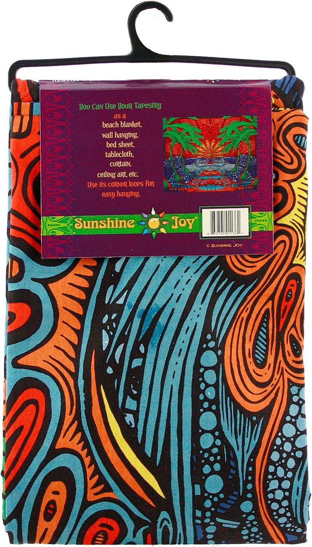 Amazing 3-D Effects 76211 Sunshine Joy 3D Epic Surf Wave Tapestry Huge Beach Sheet Hanging Wall Art