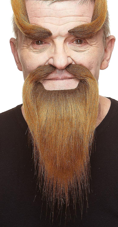 Fake Mustache and Fake Eyebrows Novelty Mustaches Self Adhesive Shaolin Monk Fake Beard