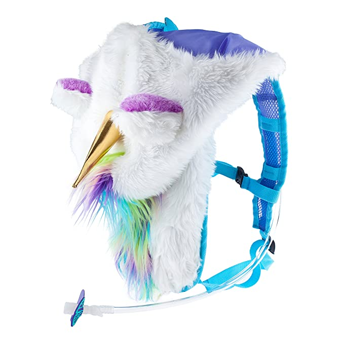 Amazon.com : Dan-Pak Hydration Pack 2l - Magical Unicorn - Furry Rainbow Plush Hood! : Sports & Outdoors