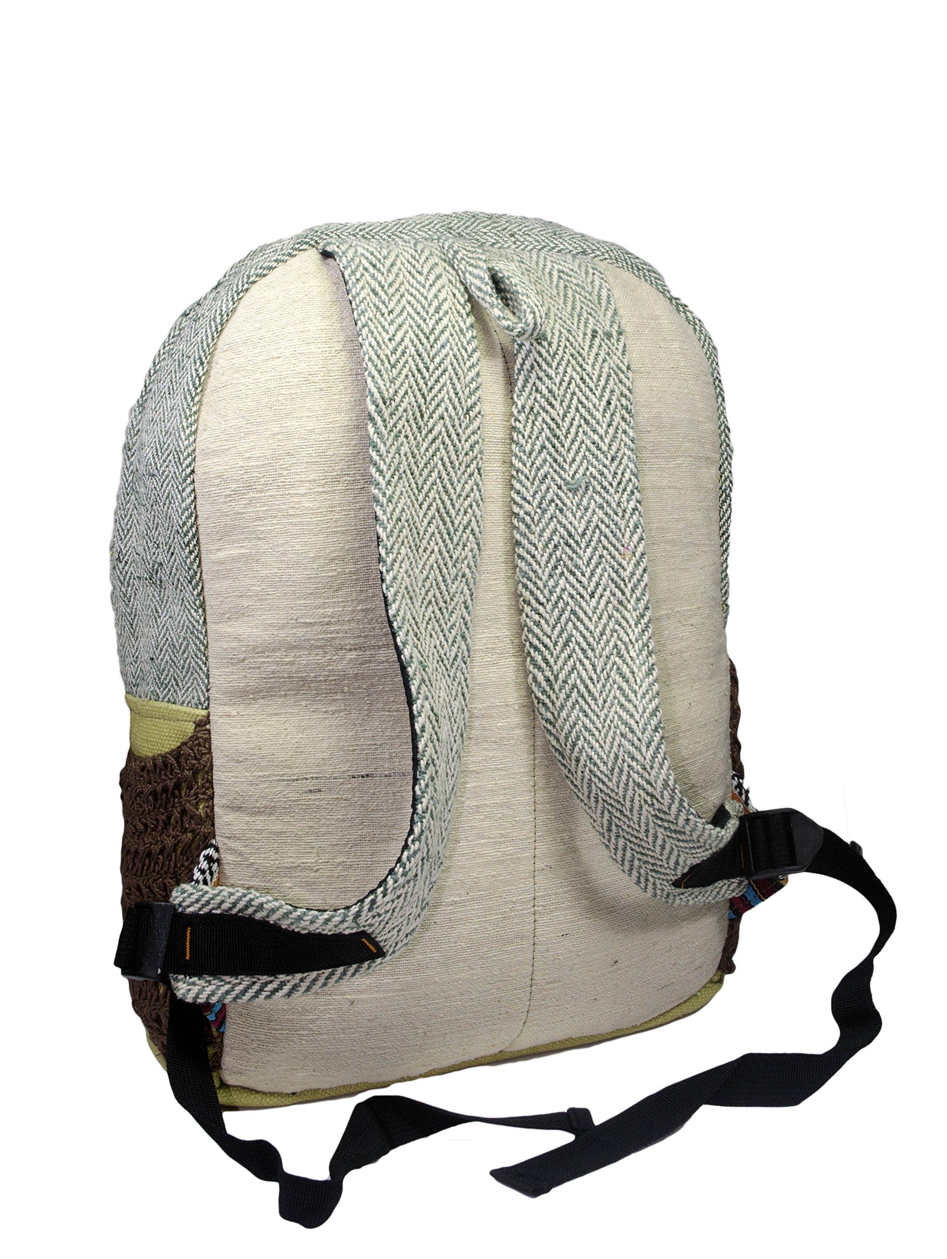 Hemp Handmade Himlayan Backpack ( THC FREE) (Type 1) by Polykarmatic (Image #2)